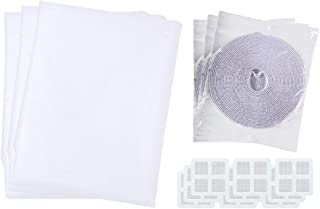 DIY Adjustable Window Screen Netting Mesh Curtain Mosquito Net Cooktops 3 PCS with Window Tape Self-contained Backside Tape - Fitted to Any Size Windows - Built to Help Air Circulate in Summer 51 *