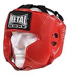 METAL BOXE MB117 - Casco de Boxeo, Color Rojo - Rojo, tamaño Adulto