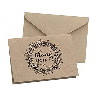 Hortense B. Hewitt 50 Count Krafty Thank You Cards