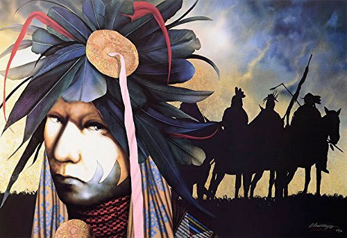 Wet Brush JD J D Challenger ALL OVER THE SKY SACRED VOICES CALLING Signed & Numbered CANVAS w/coa