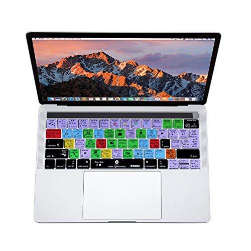 XSKN Adobe Lightroom CC Inglés atajos de teclado piel de silicona para Apple Multi Touch–Barra de Macbook de 13pulgadas/15pulgadas (A1706y a1707), nosotros UE Layout