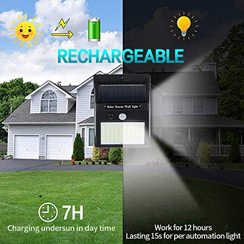 Solar Light Outdoor, LED Solar Motion Lights 3 Working Modes with 140 Led Chips Waterproof Wireless Easy to Install Motion Sensor Security Lights for Pathway, Front Door, Back Yard, Driveway, Garage