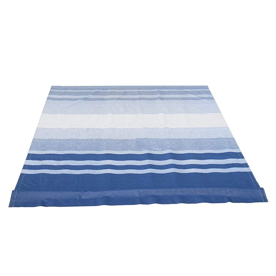 ALEKO RVFAB12X8BLSTR32 RV Awning Fabric Replacement 12 x 8 Feet Blue and White Striped