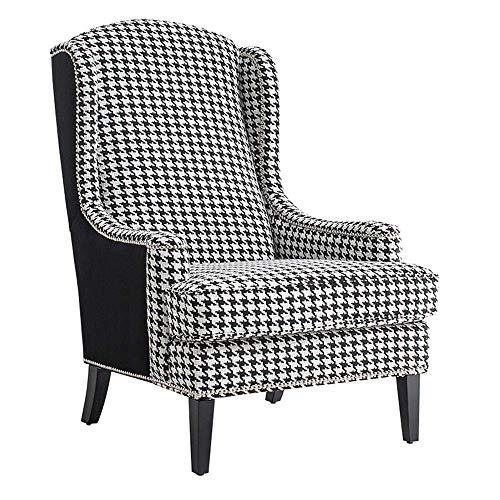 YINGGEXU Silla de comedor Vintage sillón de madera sofá silla - tela de tela de un solo asiento dormitorio salón cafetería sofá silla retro viento silla silla silla de cine en casa muebles