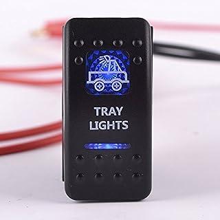 Iztoss S1005 DC12V/24V 5ピンの ブルー LED Tray LIGHT ON-OFFロッカースイッチ マリン RV ボート車