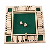 El juego de dados de la caja, juegos de mesa de madera educativos Número de juegos de mesa de beber juego clásico de tablero de dados