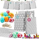 Calendario de Adviento, 24 DIY Calendario de Adviento Navidad, Bolsas de Regalo Navidad, 24 Adhesivo...