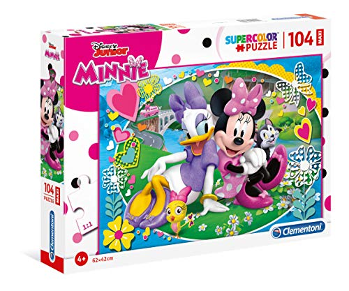 Clementoni Helpers Puzzle 104 Piezas Maxi Minnie Happy Helper, Multicolor, (23708.1)
