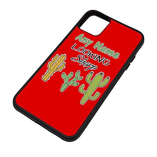 UNIGIFT gepersonaliseerd geschenk - op zoek Sharp iPhone 11 / Pro/Max Case (Plant Slogan Design Kleur) Elke Naam Bericht Unieke Apple TPU Cover - Cactus