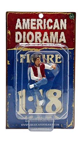 American Diorama- Miniature Voiture de Collection, 23887, Blanc/Rouge/Bleu