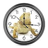 DYCBNESS Reloj de pared,Dragón barbudo Lagarto camuflador Animal salvaje tropical Reptil decorativos Silencioso interior reloj de cuarzo redondo No-ticking funciona con pilas,para decoración del hogar