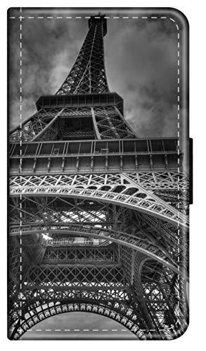 blitzversand Flip Hülle Paris FRANZÖSISCH kompatibel für Samsung Galaxy A20E Paris Eifelturm Handy Hülle Leder Tasche Klapphülle Brieftasche Etui r& um Schutz Wallet M6