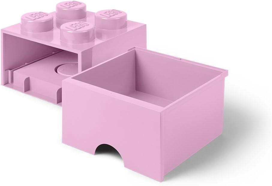 Room Copenhagen L4005Y.00 40051732 Storage Brick 4 mit Schubladen, Gelb, 25 x 25,2 cm Rosa
