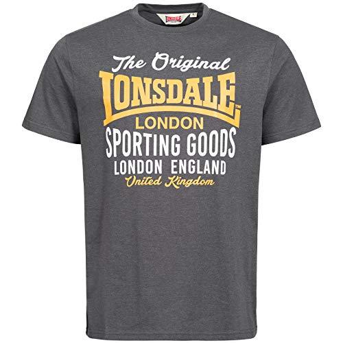 Lonsdale London Usborne Camiseta, Grau, L para Hombre