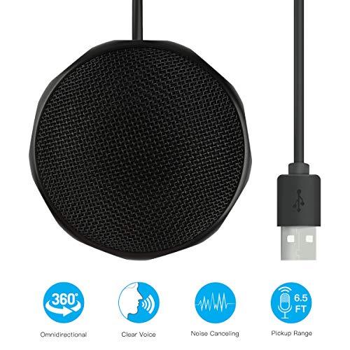 USB Mikrofon für Computer,LarmTek Streaming Mikrofon Plug-Play Omnidirektionales Kondensator PC Mikrofon Kompatibel mit Windows und Mac für Aufnahme,Skype und Chatten