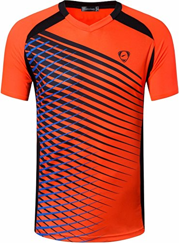 jeansian Herren Sportswear Quick Dry Short Sleeve T-Shirt LSL230 Orange XL