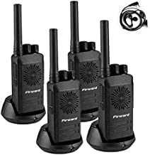 Firward Updated Walkie Talkies for Adults Long Range Walkie Talkie Rechargeable 4 Pack 2 Two Way Radios Up to 4 Miles in The Open Filed 16 Channels with Earpieces/Headphones