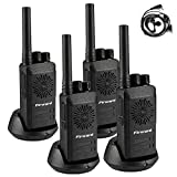 Firward Updated Walkie Talkies for Adults Long Range Walkie Talkie Rechargeable 4 Pack 2 Two Way Radios Up to 5 Miles in The Open Filed 16 Channels with Earpieces/Headphones