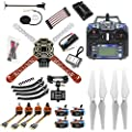 Qwinout 450mm Airframe 2.4G 6CH GPS APM2.8 Flight Control RC Quadcopter ARF Combo DIY Full Set Drone with Camera Gimbal Mount (Unassembly RTF) by QWinOut