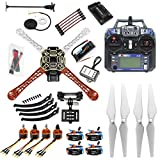 QWinOut 450mm Airframe 2.4G 6CH GPS APM2.8 Flight Control RC Quadcopter ARF Combo DIY Full Set Drone with Camera Gimbal Mount (Unassembly RTF)