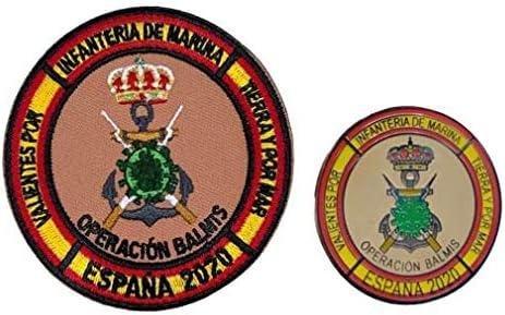 Gemelolandia | Pack Parche militar y Pin de Solapa Operación Balmis España Operación Militar 2020 25 mm | Broche Pin de traje Unidades Militares Españolas | Muy Adherentes | Patch Stickers: Amazon.es: Ropa y accesorios