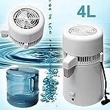 MZBZYU Destilador de Agua de Acero Inoxidable de 4 l 700W Purificador Agua con Botella de Colección para Hacer Agua Limpia