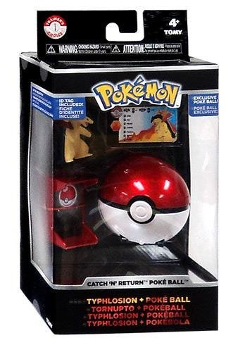 Pokemon TOMY Trainer's Choice Catch 'n' Return Poke Ball Typhlosion & Poke Ball by Pokemon Toys, Action Figures, Playsets & Plush