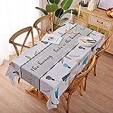XGguo Tischtuch mit Lotuseffekt - Tischwäsche in Leinenoptik wasserdichte, ölbeständige und verbrühungsfreie PVC-Tischdecke
