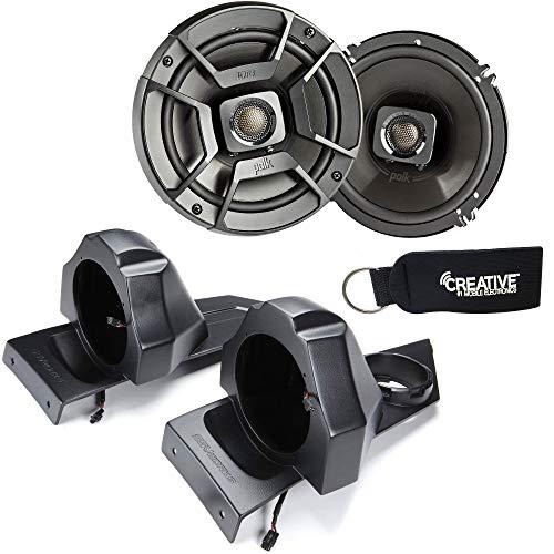 SSV Works for SS-B65U Polaris Slingshot Rear Speaker Pods + Polk DB652 6.5' Marine Rated Coax Speakers