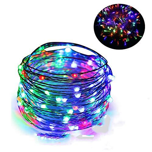 Cadena de Luces Guirnalda Luces 10M 100 LED Cuerda Luces Bombillas led Multicolor Decoración Interior, Jardines,...