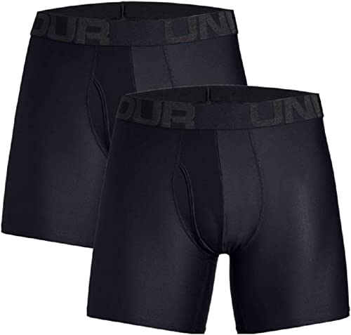 Under Armour Tech 6in 2 Pack, boxer Homme, Black / Black, S