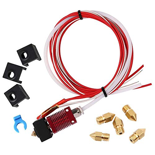 BKAUK Assembled Mk10 Extruder Hot End Kit Replacement Parts For Creality Cr-10 Cr-10S S4 S5 3D Printer, 1.75Mm Filament, 0.4Mm Nozzle,12V 40W
