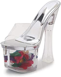 Womens Perspex Platform Sandals,Clear Open Toe Stilettos,Transparent Mules for Wedding,Party,Prom Shoes