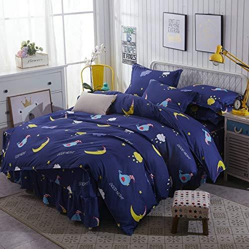 Huyiming Bed Linings voor rok van katoen, Aloë Vera, sprei, gewatteerd, 4-delig, sprei, 1,5/1,8/2,0 m