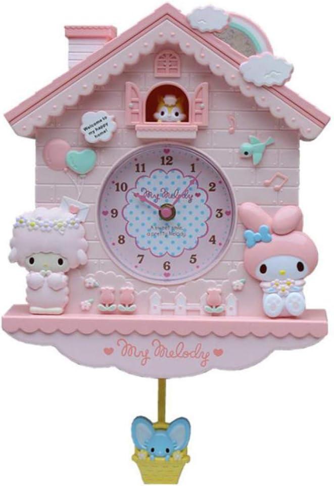 HUIHUI Wall Clock 12 Inch Cartoon Max 73% OFF Melody Kitty My Hello Ki In stock Swing