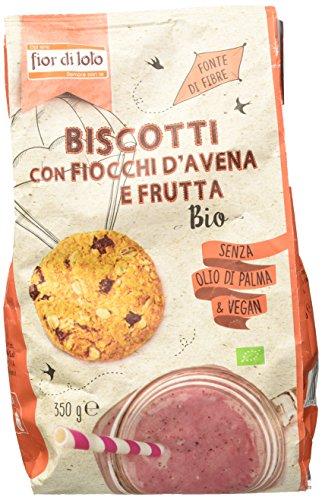 Fior di Loto Biscotti con Fiocchi di Avena e Frutta, 350g