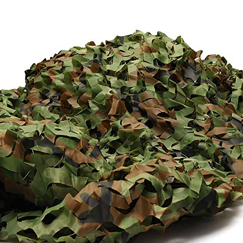 SMYH Jungle Camo Netting Lightweight Camouflage Net Shading Sunscreen Net Camping Camo Net, Blind Shooting Car Cover Building Shelters, 6.5 x 10ft,10 x 10ft, 10 x 16.5ft, 13 x 16.5ft, 20 x 20ft