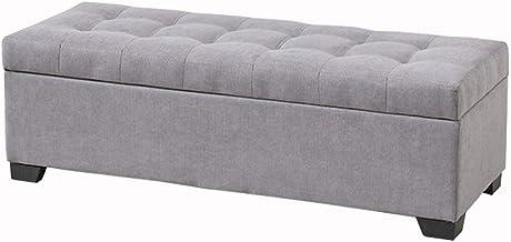 LJFYXZ Folding Storage Ottoman Solid Wood Polyester Fabric Toy Box Modern Style Lifting Bedroom Furniture Sofa Stool Beari...