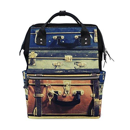 TIZORAX Oude koffer Vintage Luier Rugzak Grote Capaciteit Baby Tas Multi-Functie Nappy Tassen Reizen Moeder Rugzak voor Baby Zorg