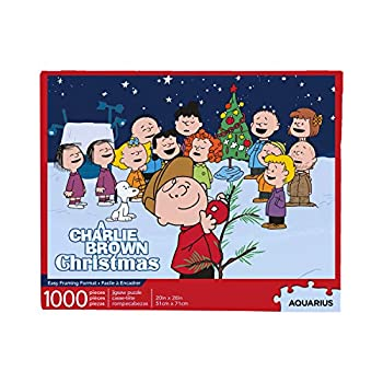 AQUARIUS Peanuts Charlie Brown Puzzle Collage Christmas 1000 Piece Jigsaw Puzzle   A Charlie Brown Christmas