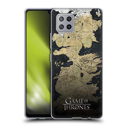 Head Case Designs Licenciado Oficialmente HBO Game of Thrones Mapa del Westeros Arte Clave Carcasa de Gel de Silicona Compatible con Samsung Galaxy A42 5G (2020)