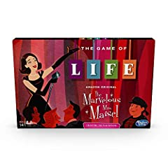 Inspired by the Amazon series: the game of life game takes players back to the 1950S new York city to experience the world of the marvelous Mrs. Maisel Find your calling: in this edition of the game of life, players choose a path seeking fame and for...