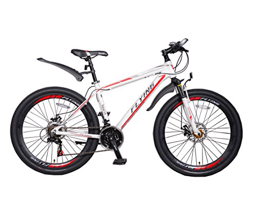 Flying 21 speeds Mountain Bikes Bicycles Shimano Alloy Frame with Warranty (Red White)