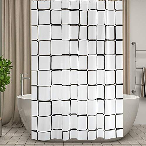 CXL Duschvorhang perforiert wasserdicht & schimmelresistent Vorhang Stoff verdickt Toilettenvorhang Bad Vorhang Dusche Trennwand