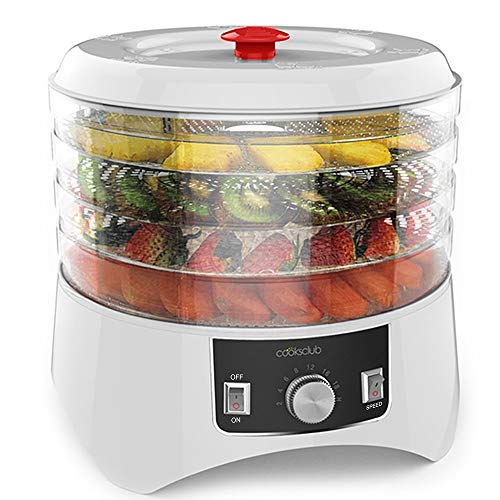 Fantastic Prices! Cooks Club White Food Dehydrator with Adjustable Timer and Heat Settings Includes ...