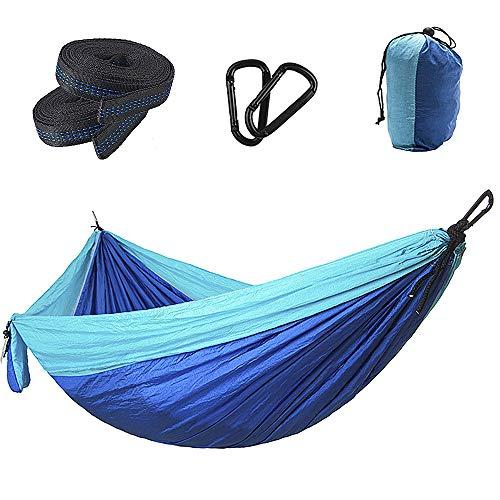 jnneyuu Camping Hammock, Super Light Weight Parachute Hammock with Tree Straps Portable Nylon Hammock for Backpacking Travel