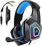 FTYUNWE Accesorios De Computadora Auriculares para PS4 Auriculares para Juegos Controlador Xbox One Aislamiento De Ruido con Cable Auriculares para Colocar sobre Las Orejas
