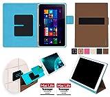 reboon Hülle für Acer Aspire Switch 10 V Tasche Cover Case Bumper | in Braun | Testsieger