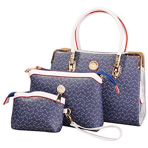 Donna Borse modello d'epoca Crossbody Pelle Borse Nuova borsa di disegno + Messenger Bag + Purse 3 set