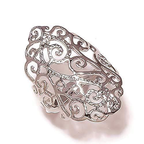 Anillos de marquesa chapados en plata, diseño de motociclista, anillo de dedo de moda US-6.5, el mejor regalo para mujeres y niñas